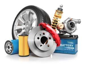 Suspension de voiture et disque de frein