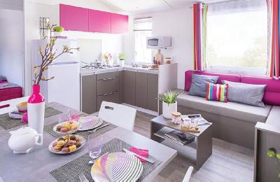 location landes mobilhome  41 m² neuf de  2018 cpg 4**** piscines chaufféés