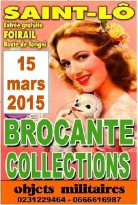 ST-LÔ - 15 mars 15 - brocante-militaria-collections