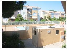 CAP D'AGDE - T2 Balcon vue sur piscine
