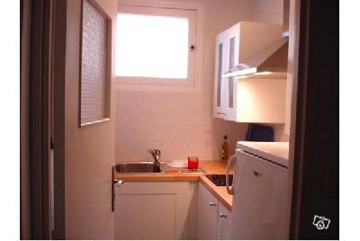 Chambre et cuisine meublée