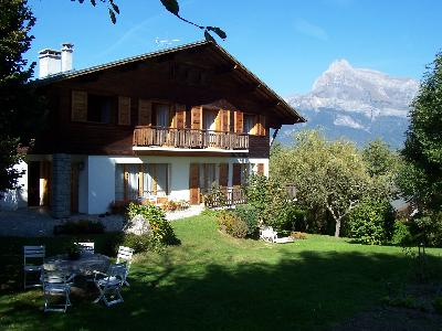 Appartement combloux face au mont-blanc