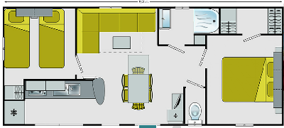 Locatin mobil home - Camping LA CARABASSE