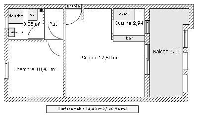 Appartement T2 de 34 m², Terreville, SCHŒLCHER