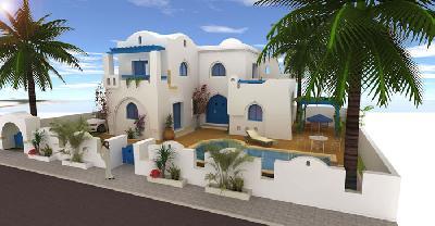 Villa à Djerba vue de mer