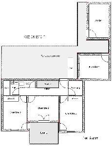 Maison T5 sur 2 niveaux de 110 m² , Rivière Salée