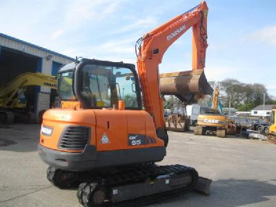 2008 Doosan DX55 mini pelle