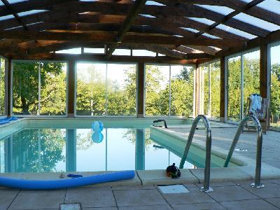 gite 8 pers piscine couverte privee 28 a 32 °C