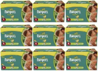 456 couches Pampers Baby Dry - Taille 4