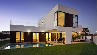 Rojales costa blanca ultra moderne villa avec piscine for Villa basse moderne