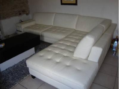 Canapé D Angle Blanc Cuir Center Annonces Gratuites Mobilier