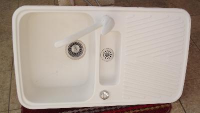 Petite Annonce Mobilier Evier Cristalite Granit Blanc Et Mitigeur