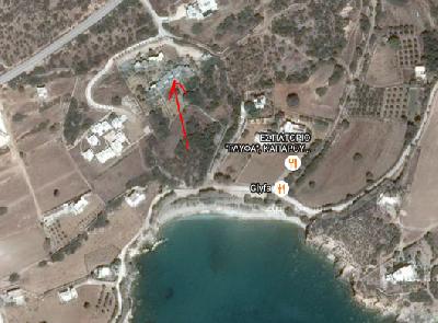 Maison en pierre au bord de la mer, île de PAROS (CYCLADES), GRECE