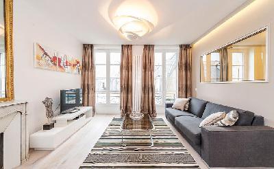 2 Chambres, 2 SDB, 2 WC - 100m2 - Paris 8è