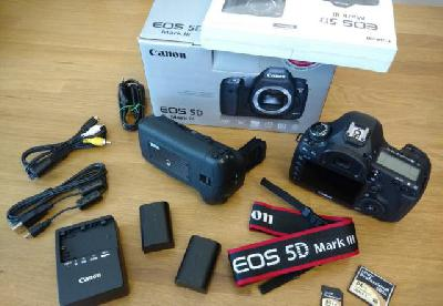 Reflex CANON 5D Mark3 + Grip + 2 Batt + Cartes