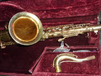 Vintage rare conn transitional saxophone ténor plaqué or