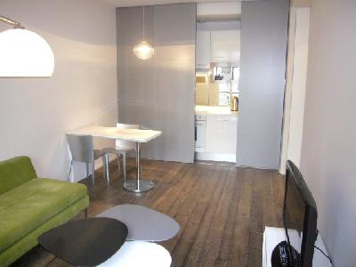 Studio 30m² & cuisine(US)+parking + cave + piscine
