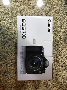 Canon EOS 70D 20.2MP Digital SLR Camera - Black Body Only