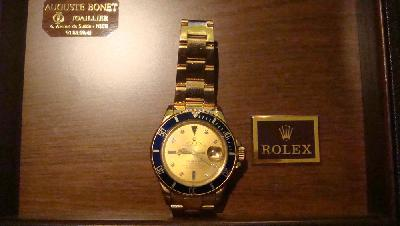 Rolex submariner tout or occasion