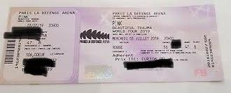 PINK PARIS LA DEFENSE ARENA 03/07/19