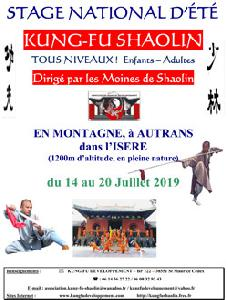 Stage de Kung Fu Shaolin