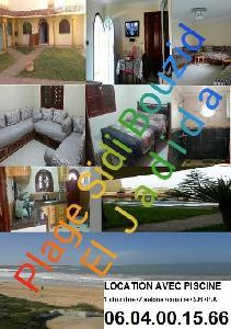 App. meublé avec piscine à la plage sidi bouzid